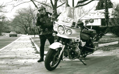 #ThrowbackThursday – P.O. Lewis Wygand Enforcing the Speed Limit