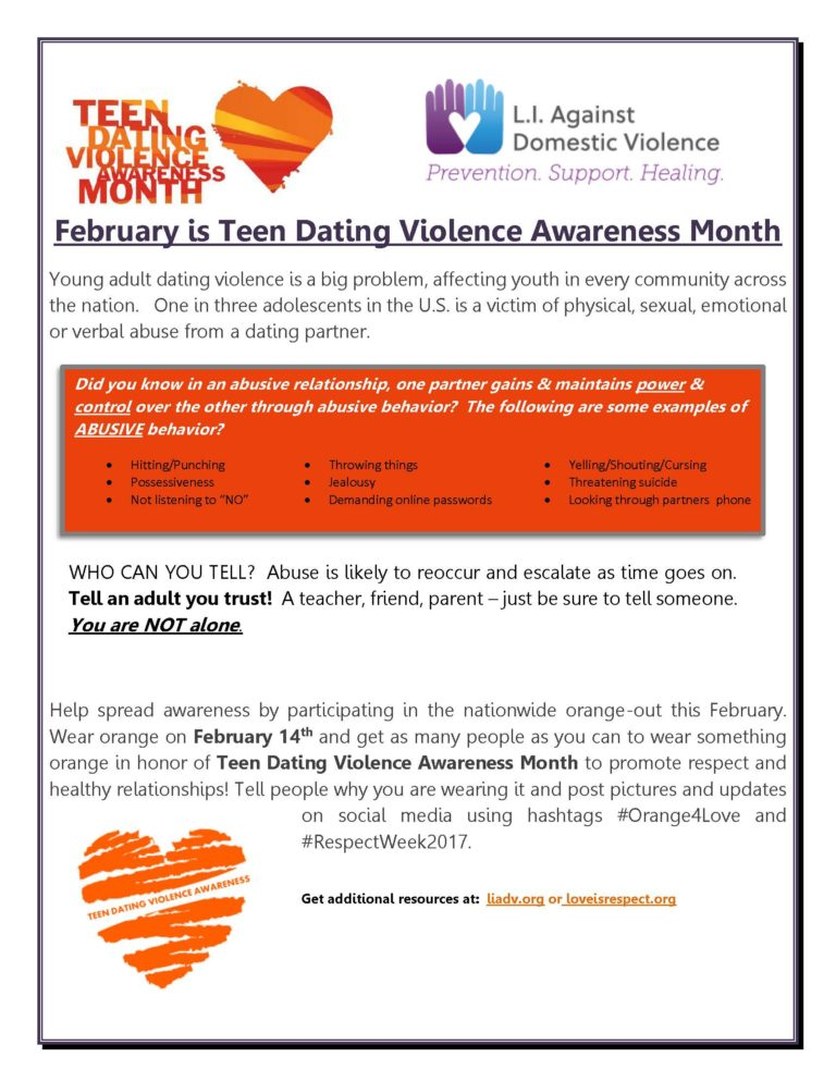 Dating violence awareness month 2015