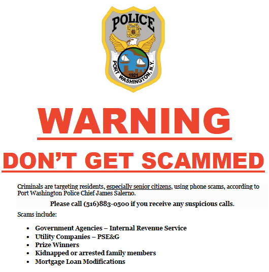 Phone Scammers Continue to Target Our Community